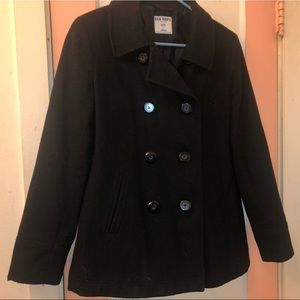 Black Pea Coat from Old Navy
